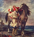 Eugene Delacroix A Moroccan And His Horse