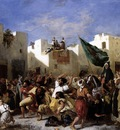 Eugene Delacroix The Fanatics Of Tangier