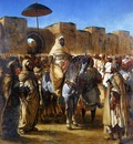 Eugene Delacroix The Sultan Of Morocco And His Entourage