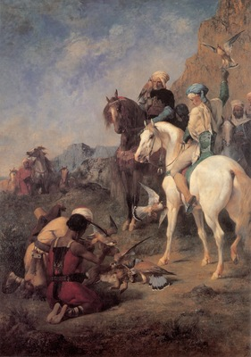 Eugene Fromentin Falcon Hunting In Algeria