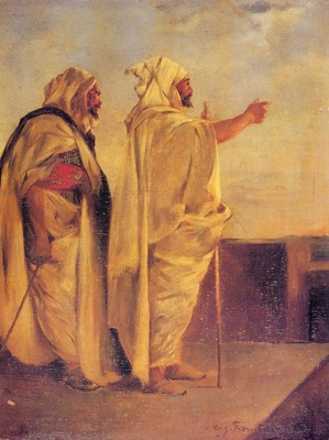 Eugene Fromentin Two Arabs On A Terrace