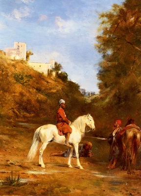 Eugene Fromentin Watering The Horses