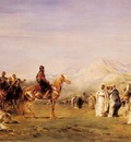 Eugene Fromentin Arab Encampment In The Atlas Mountains