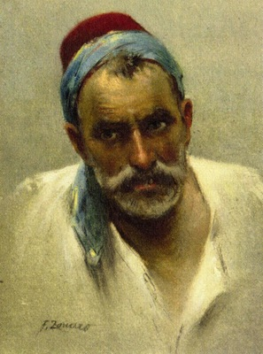 Fausto Zonaro Portrait Of A Man