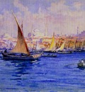 Fausto Zonaro A View Of Bosphorus