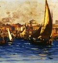 Fausto Zonaro The Port Of Istanbul