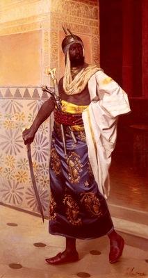 Felix Ziem A Nubian Guard