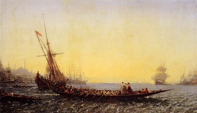 Felix Ziem Harbour In Constantinople