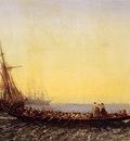 Felix Ziem Harbour In Constantinople