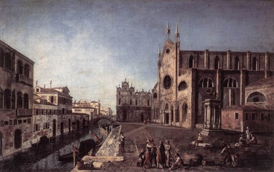 Francesco Albotto View Of Campo Santi Giovanni E Paolo