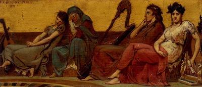 Frederick Arthur Bridgman Design For The Decoration Of An Aeolian Harp