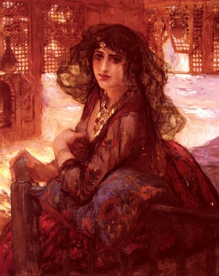 Frederick Arthur Bridgman Harem Girl