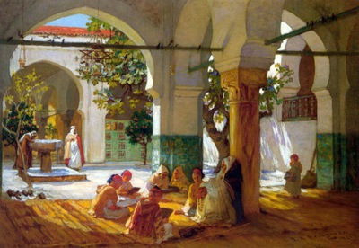Frederick Arthur Bridgman Learning the Quran