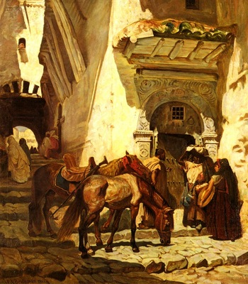 Frederick Arthur Bridgman Near The Kasbah
