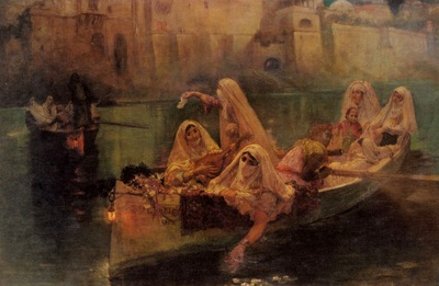 Frederick Arthur Bridgman The Harem Boats