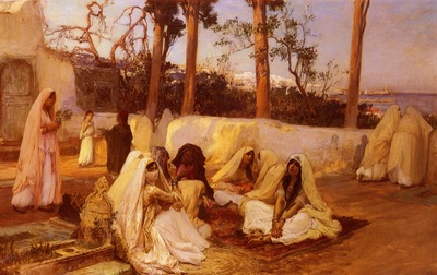 Frederick Arthur Bridgman Women At The Cemetery In Algiers
