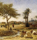 Frederick Arthur Bridgman An Arab Village