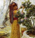 Frederick Arthur Bridgman In The Courtyard