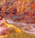 Frederick Arthur Bridgman Reclining By A Stream