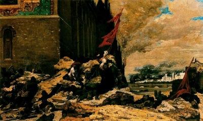 Georges Clairin El Incendio De Las Tullerias