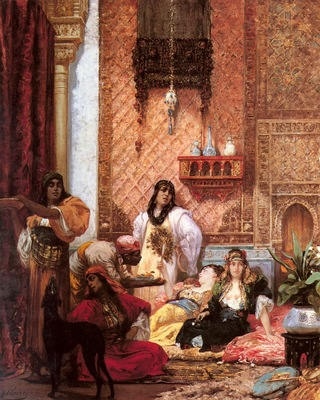 Georges Jules Victor Clairin The Sultans Favorites