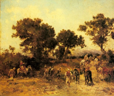 Georges Washinton An Arab Hunting Party