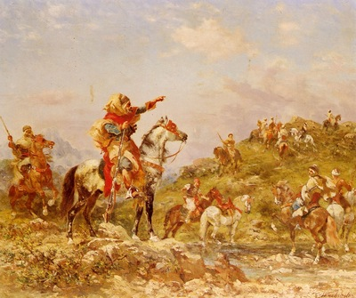 Georges Washinton Arab Warriors On Horseback