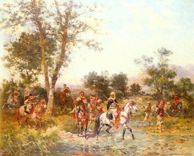 Georges Washinton Cavaliers Arabes A L Abreuvoir