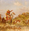 Georges Washinton Arab Warriors On Horseback