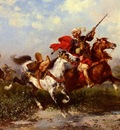 Georges Washinton Combats De Cavaliers Arabes
