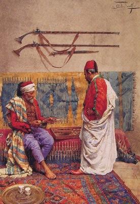 Giulio Rosati A Game Of Backgammon