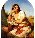 guffens godfried a bedouin chieftain and a bedouin woman a pair of paintings