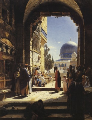 Gustav Bauernfeind At The Entrance tTo The Temple Mount