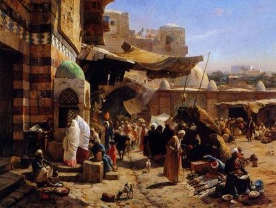 Gustav Bauernfeind Market At Jaffa