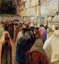 Gustav Bauernfeind Jews At The Wailing Wall