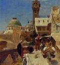 Gustav Bauernfeind Orientalische Strassenszene