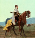 Gustave Clarence Rodolphe Boulanger An Arab Horseman