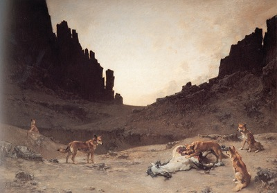 Gustave Guillaumet Dogs Of The Douar Devuring A Dead Horse
