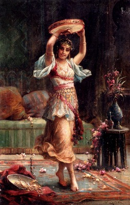 Hans Zatzka The Tambourine Player