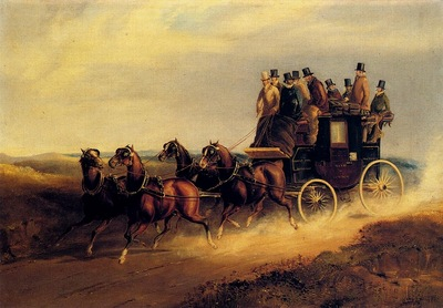 Hendreson Charles Cooper The Bath To London Coach On The Open Road