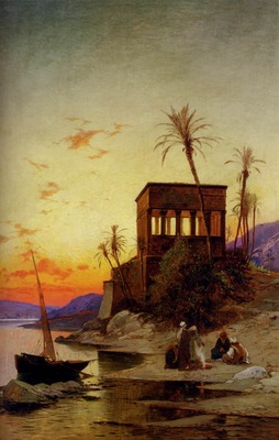 Hermann David Salomon Corrodi The Kiosk Of Trajan Philae On The Nile