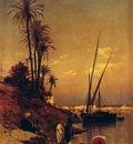 Hermann David Salomon Corrodi At The Waters Edge