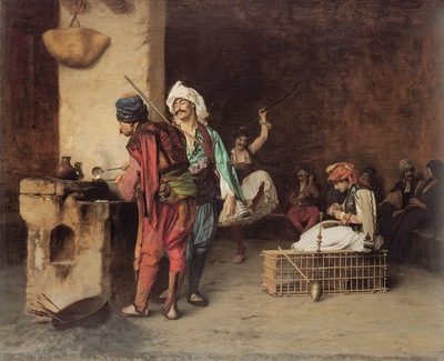 Jean Leon Gerome A Cafe In Cairo