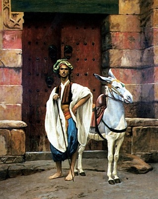 Jean Leon Gerome Sais And His Donkey