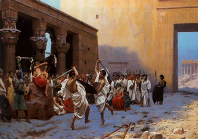 Jean Leon Gerome Sword Dance Before Egyptian Ruins