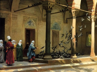 Jean Leon Gerome Women Feeding Pigeons