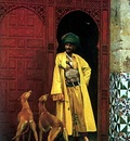 Jean Leon Gerome An Arab And His Dogs
