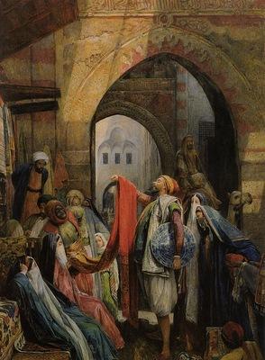 John Frederick Lewis A Cairo Bazaar
