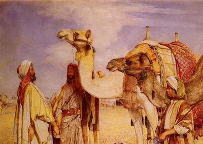 John Frederick Lewis The Greeting In the Desert