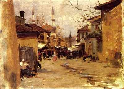John Singer Sargent Turkish Street Scene